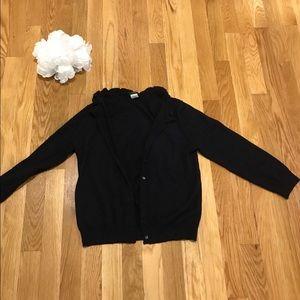 J Crew medium merino wool blue cardigan sweater